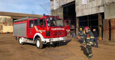Hubo un principio de incendio en una empresa de fundición en Burzaco
