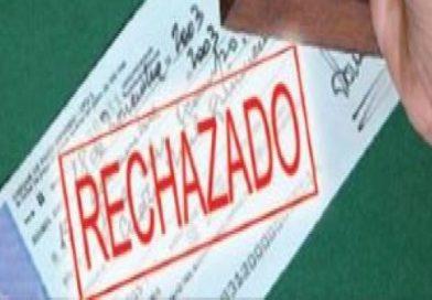 Aumenta un 71 por ciento la cantidad de cheques rechazados