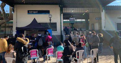 El Municipio de Alte Brown vacuna contra el covid en estaciones de trenes
